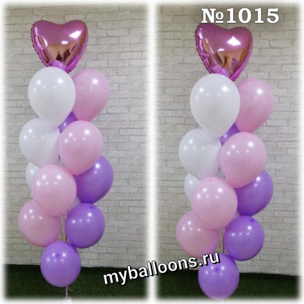 Фонтан из 14 нежных шаров