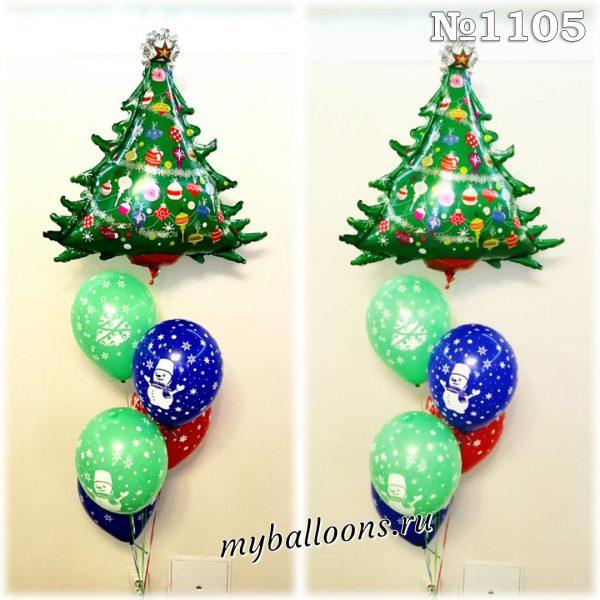 Новогодний фонтан из воздушных шаров