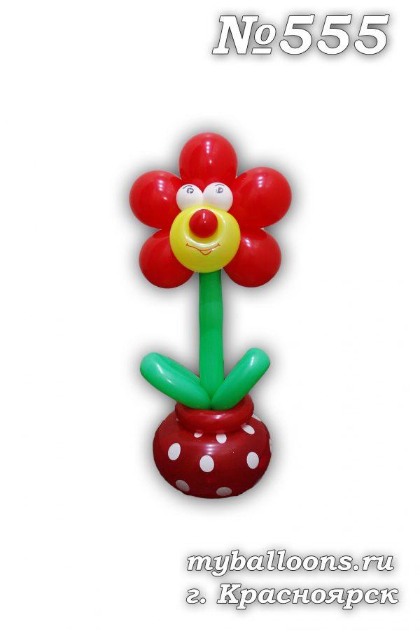 Цветок из воздушных шаров в гошочке