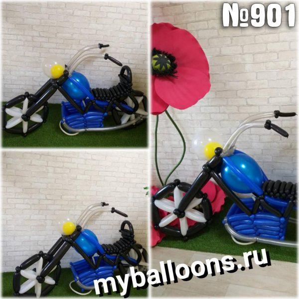 Мотоцикл из воздушных шаров(средний)