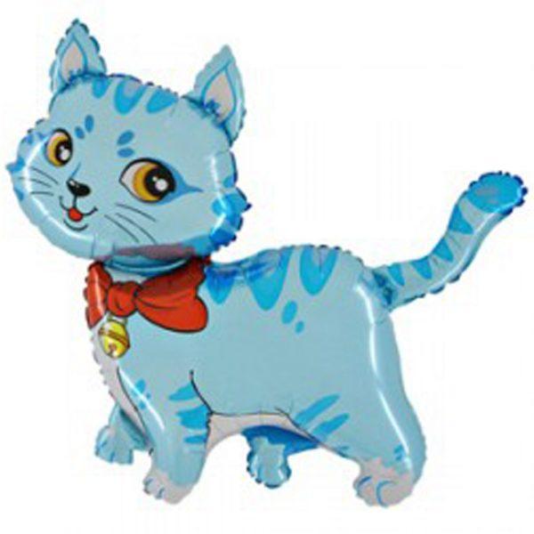 Фольгированный шарик Голубой кот