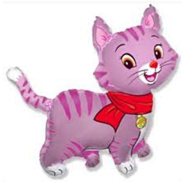 Фольгированный шарик Розовый котенок