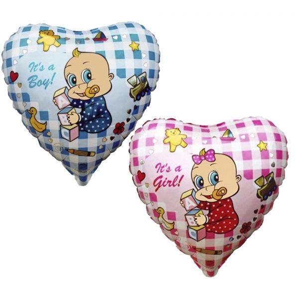 Шар сердечком для мальчика или девочки