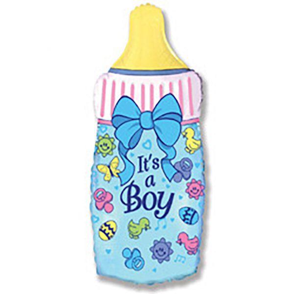 Фольгированная бутылочка для мальчика