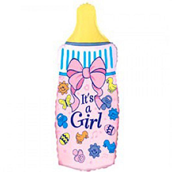 Фольгированная бутылочка для девочки