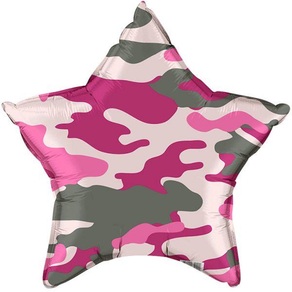 """Фольгированная звезда """"Розовый хаки"""""""