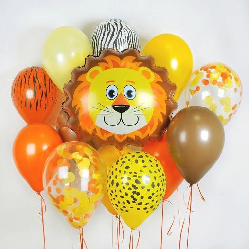 Фольгированный шар голова льва