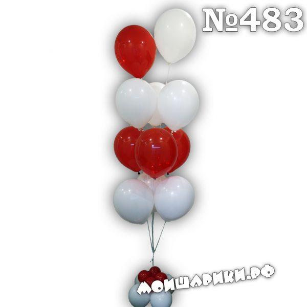 Фонтан из 11 воздушных шаров