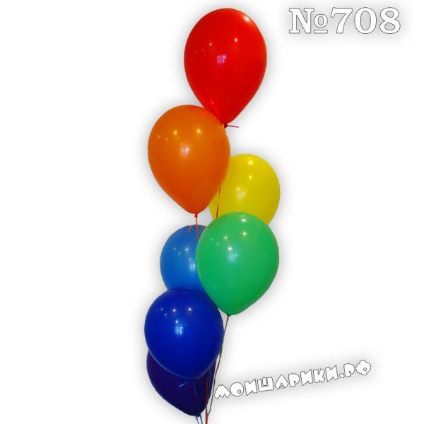 фонтан из 7 воздушных шаров