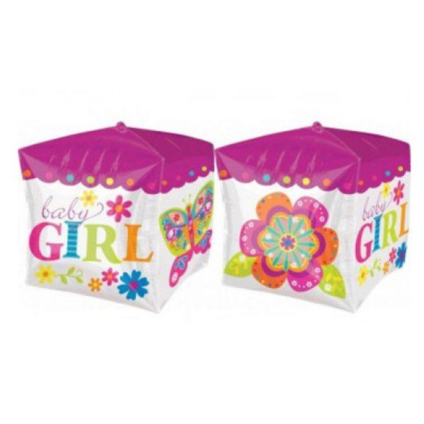Фольгированный куб для девочки