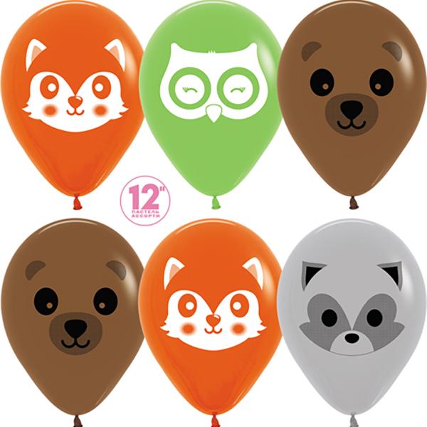 воздушный шар лесные животные