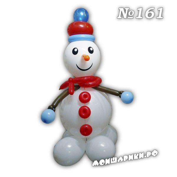 Снеговик из воздушных шаров среднийний
