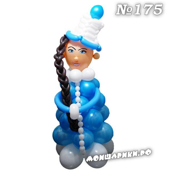 Снегурочка из воздушных шаров средняя