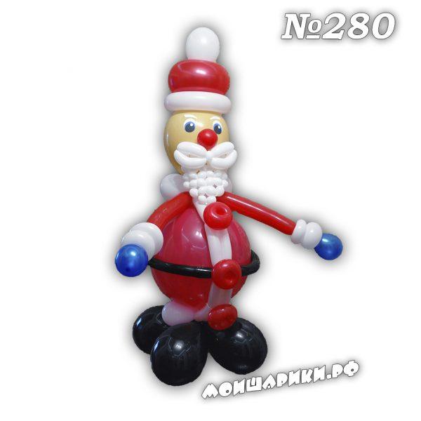 Дед мороз из воздушных шаров средний