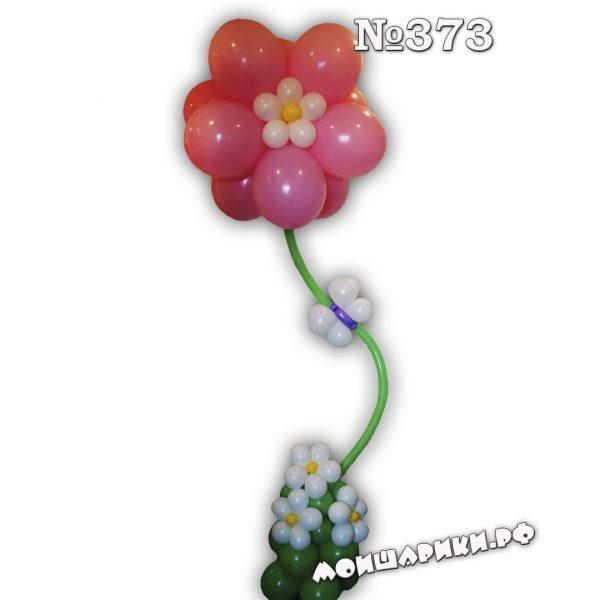 огромный розовый цветок с гелием