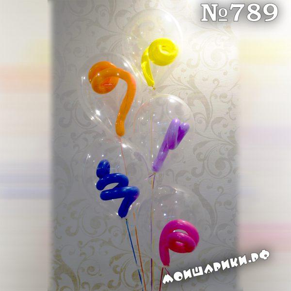 воздушный шар с завитушкой внутри