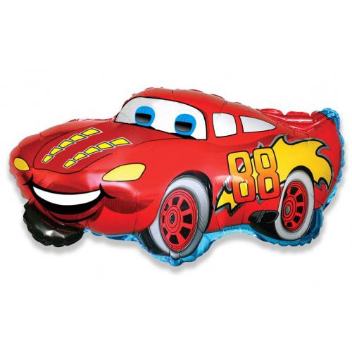 Красная машина из фольги