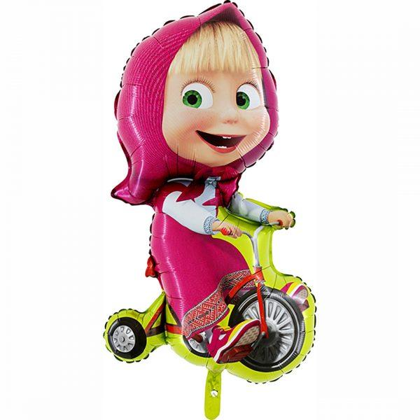 Маша на велосипеде фольга