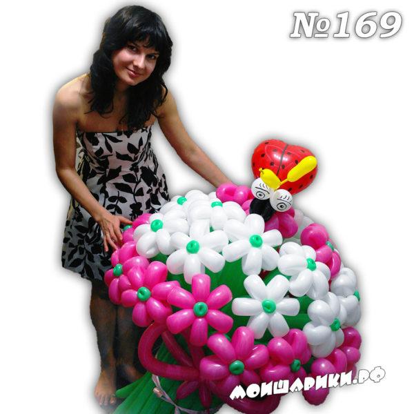 Ромашка из воздушных шаров