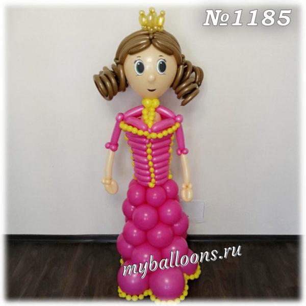 Принцесса из шариков в малиновом