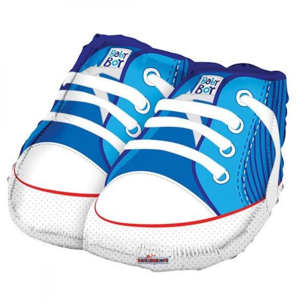 Фольгированные ботиночки для мальчика