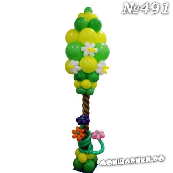 Дерево из воздушных шаров