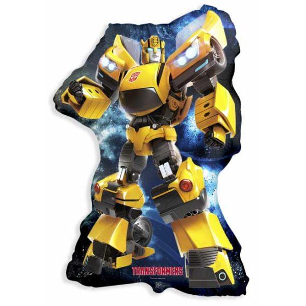 Робот фольгированный желтый