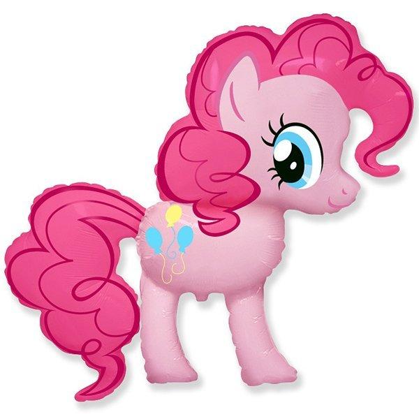 Фольгированный шар розовая пони