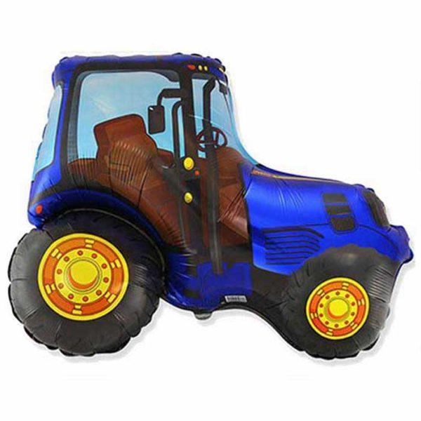 Фольгированный шар трактор синий